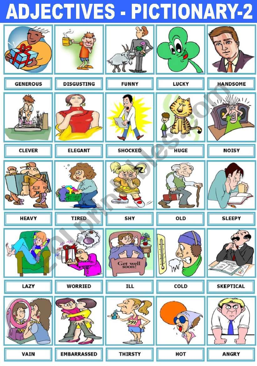 ADJECTIVES - PICTIONARY -2- worksheet