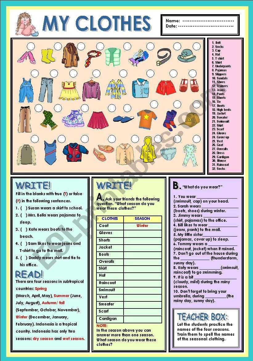 c316a79942d My clothes - ESL worksheet by Ayrin