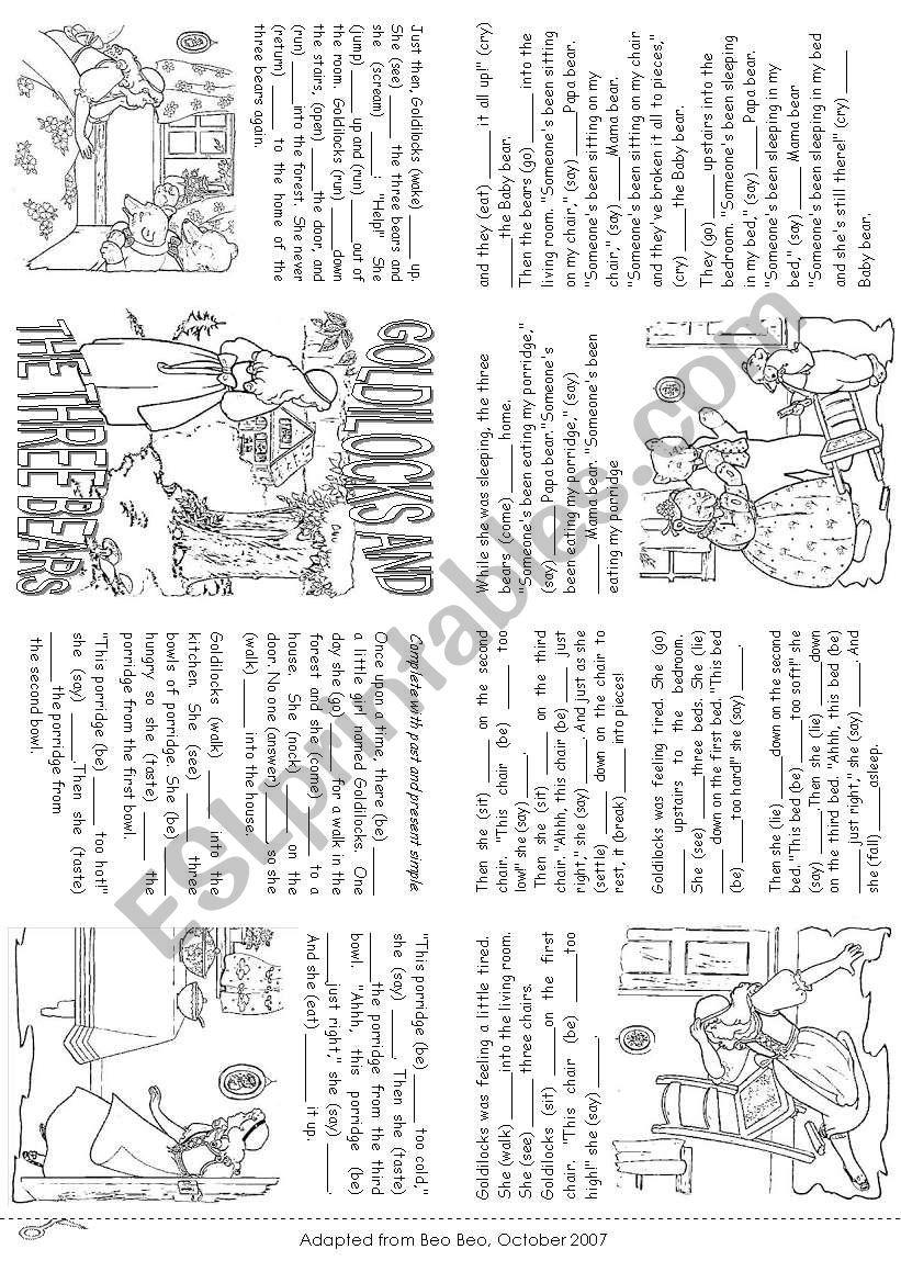 The story of Goldilocks (Mini Book)