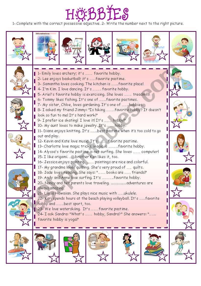 Hobbies (3)  worksheet