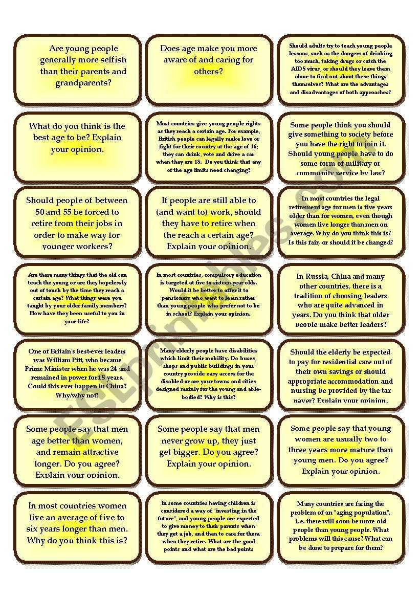 231 conversation cards worksheet