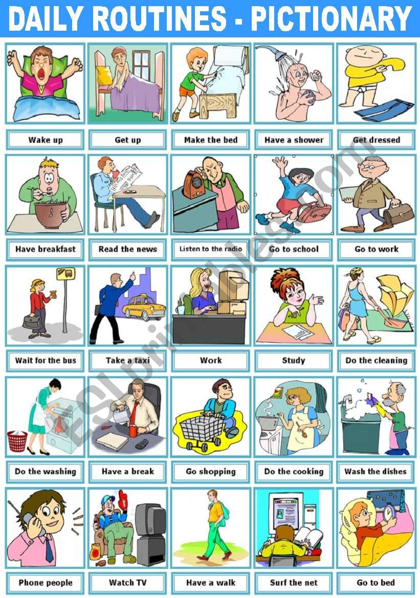 childs daily activities - 595×842