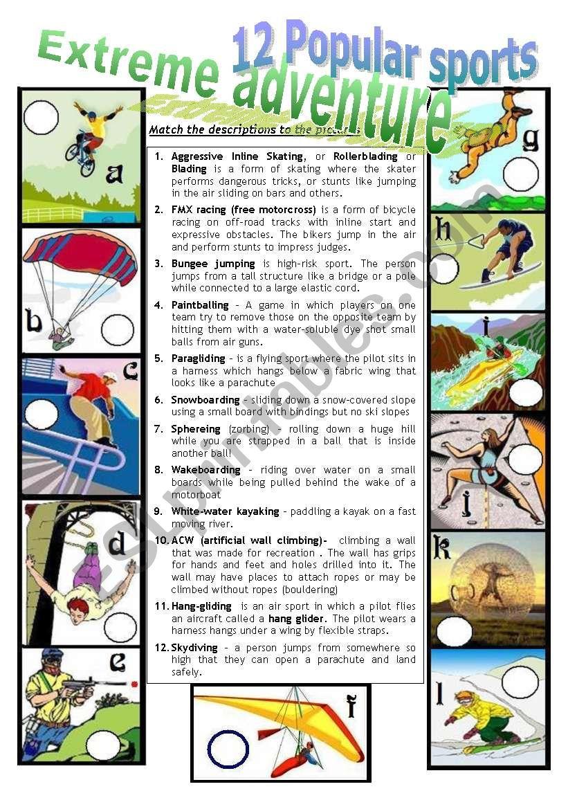 EXTREME ADVENTURE 2 worksheet