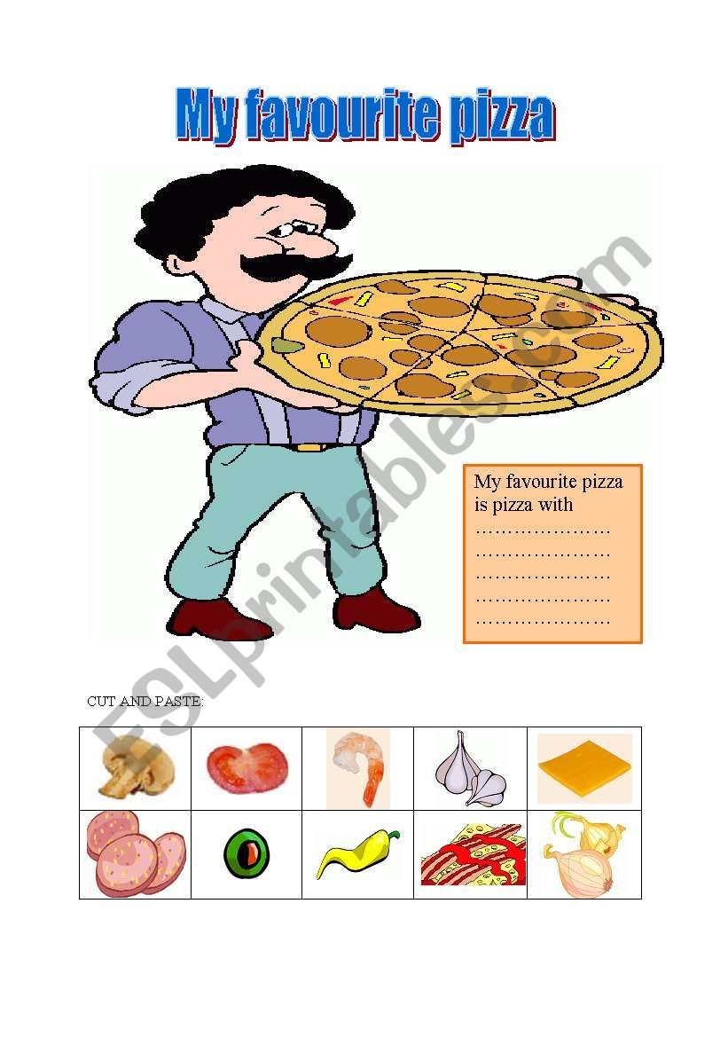 food-My favourite pizza worksheet
