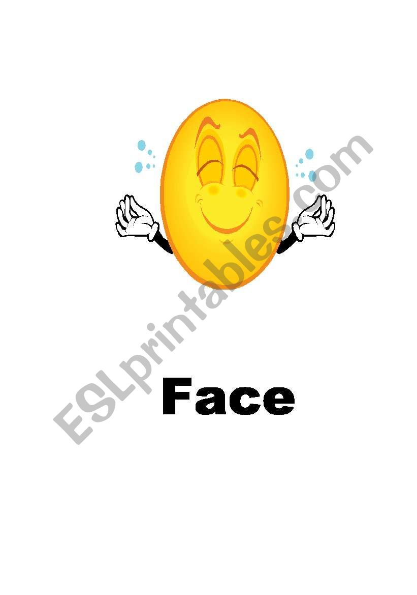 FACE PARTS (  5 PAGES ) worksheet