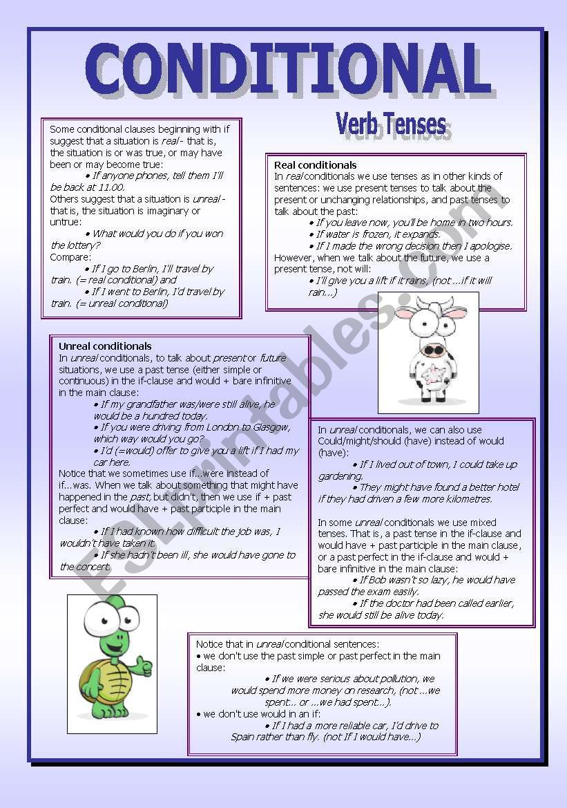 CONDITIONALS - (6 pages) worksheet