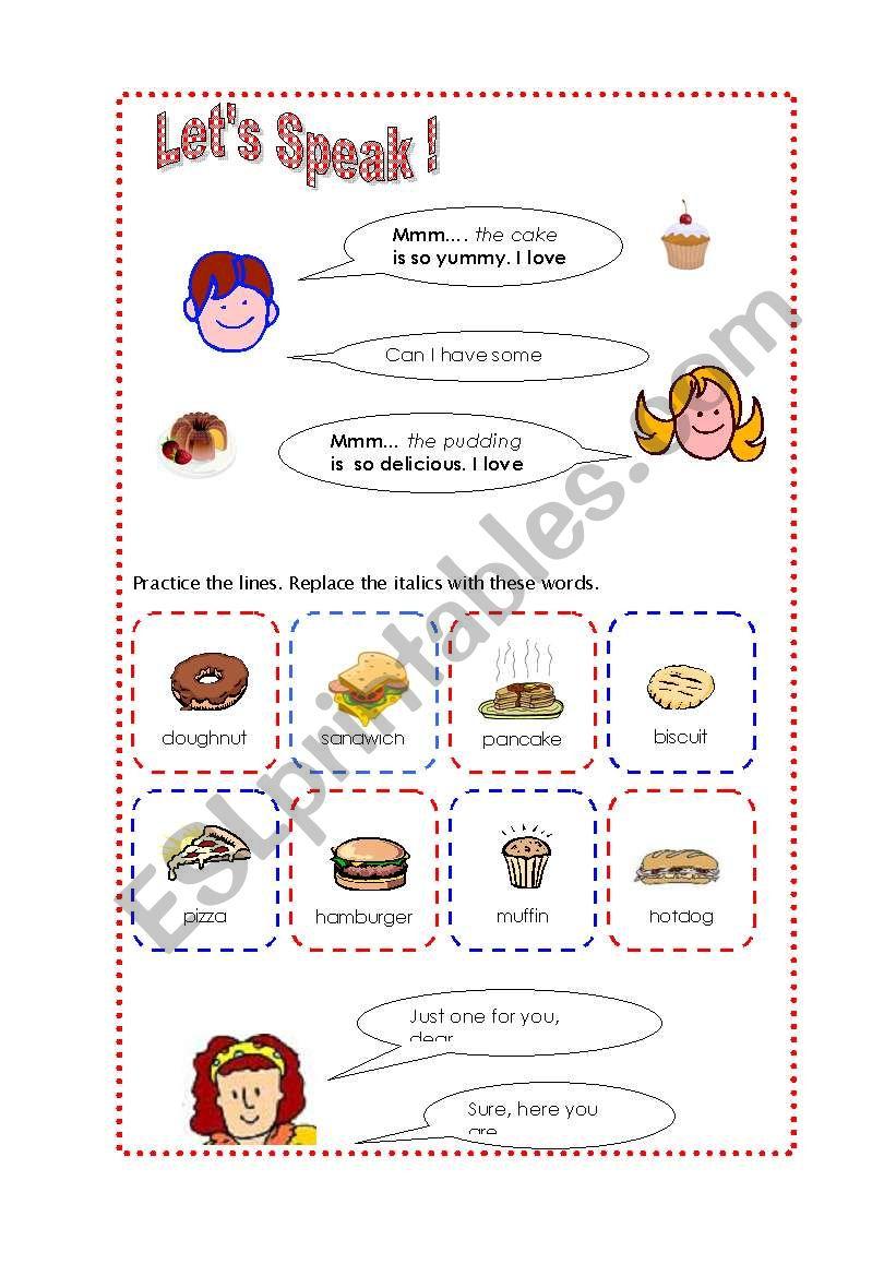 English worksheets: Mom-Kid Daily Conversation