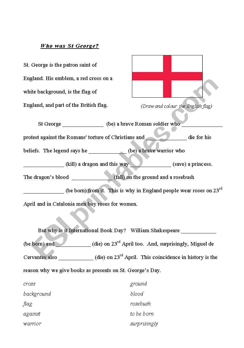 Saint George worksheet