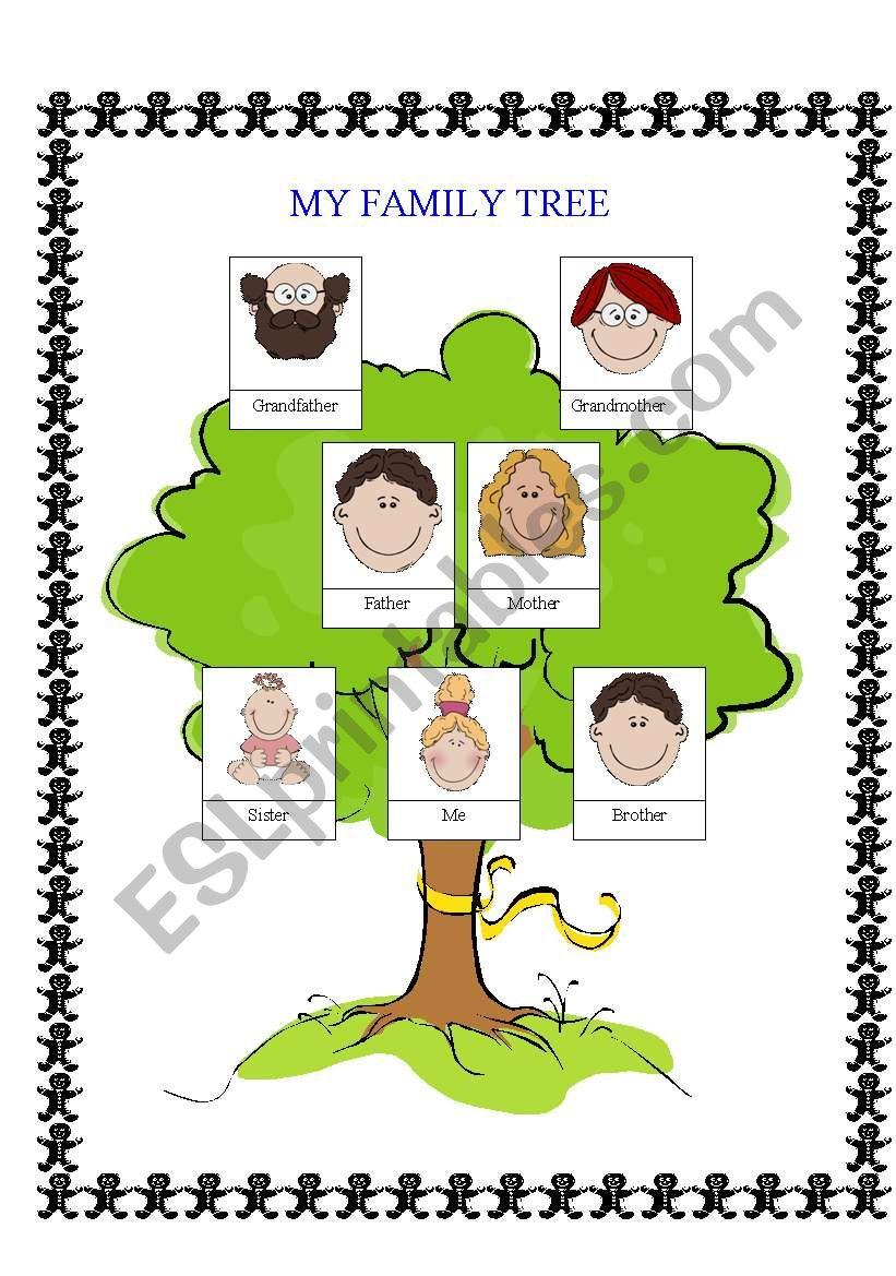 simple family tree esl worksheet by alice21 ciobanu