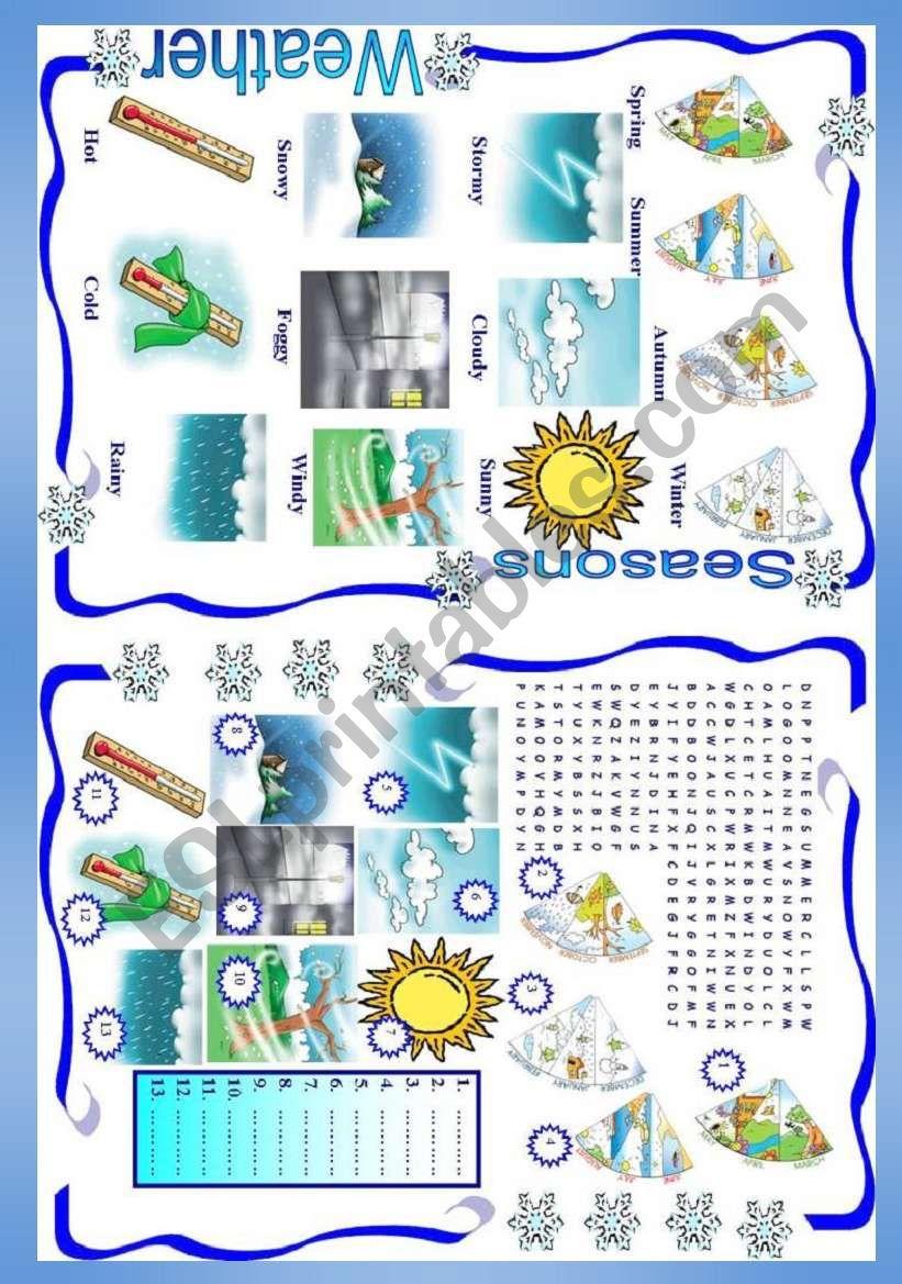Weather / Seasons worksheet