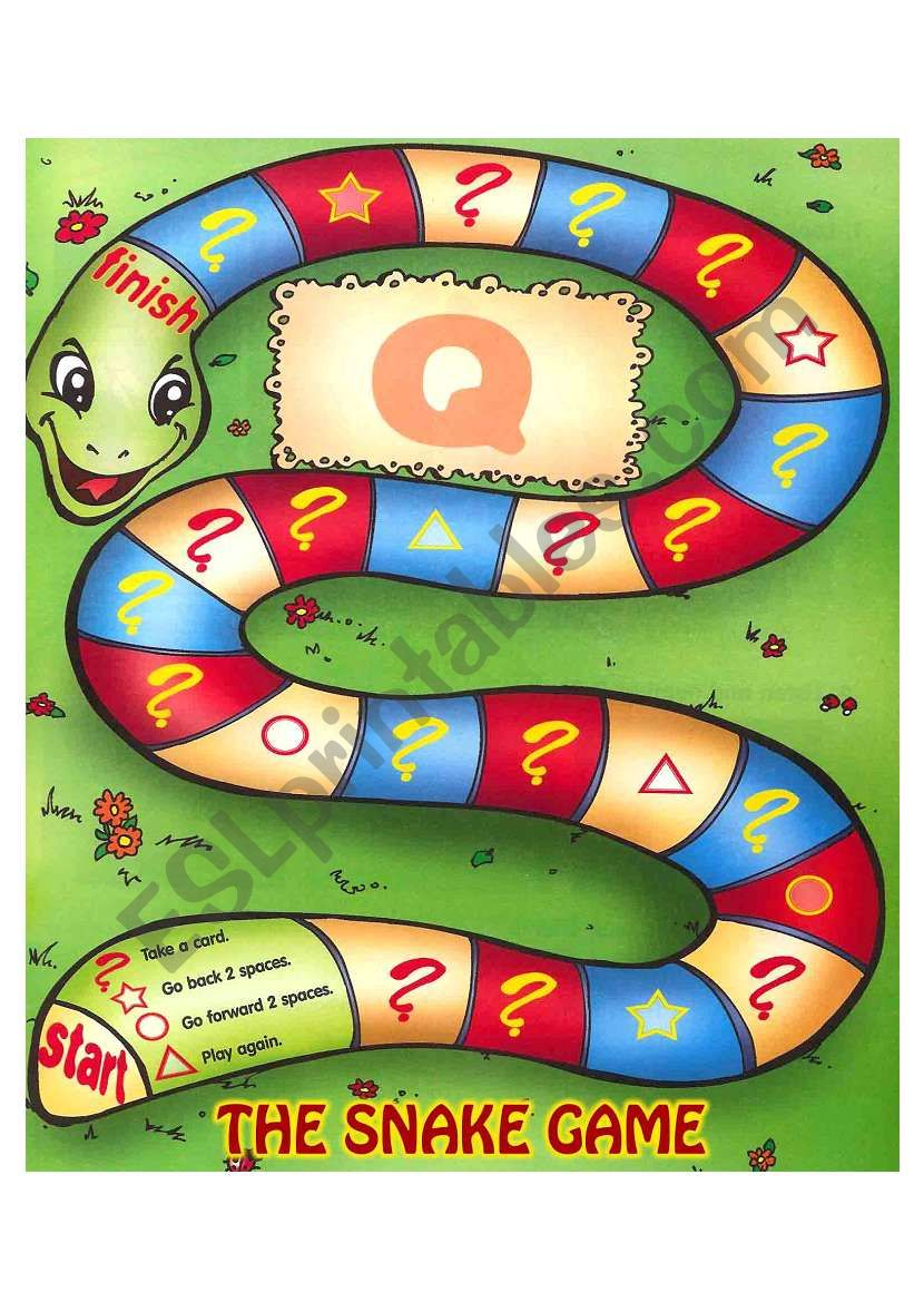 THE SNAKE GAME worksheet