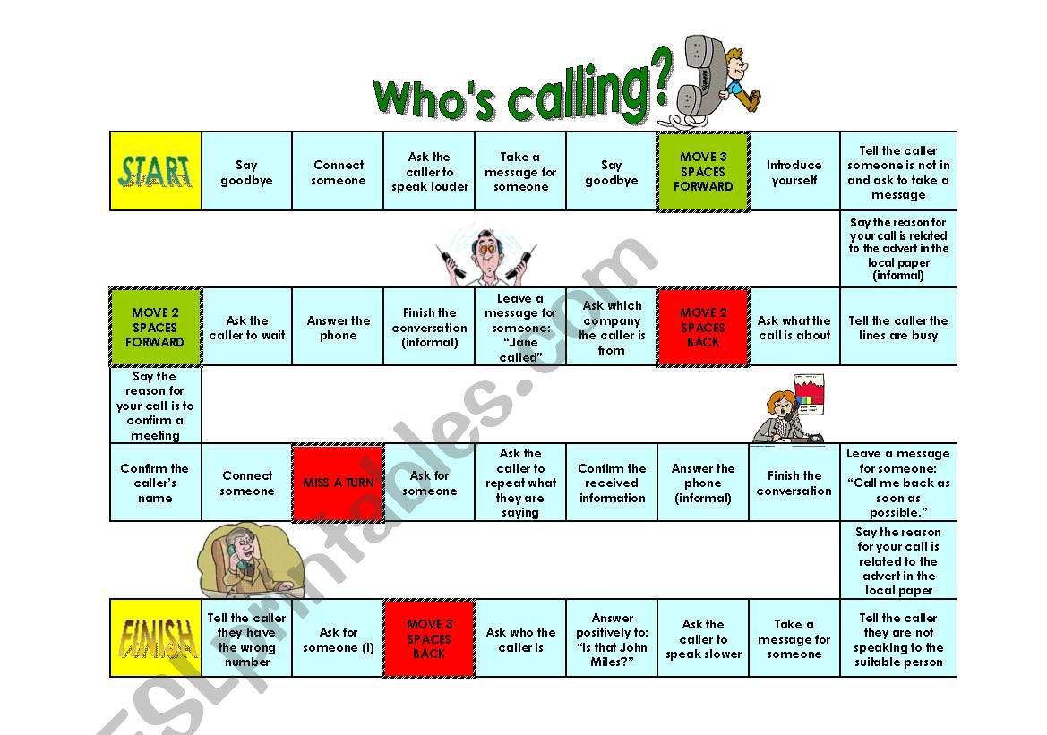 Telephone game worksheet