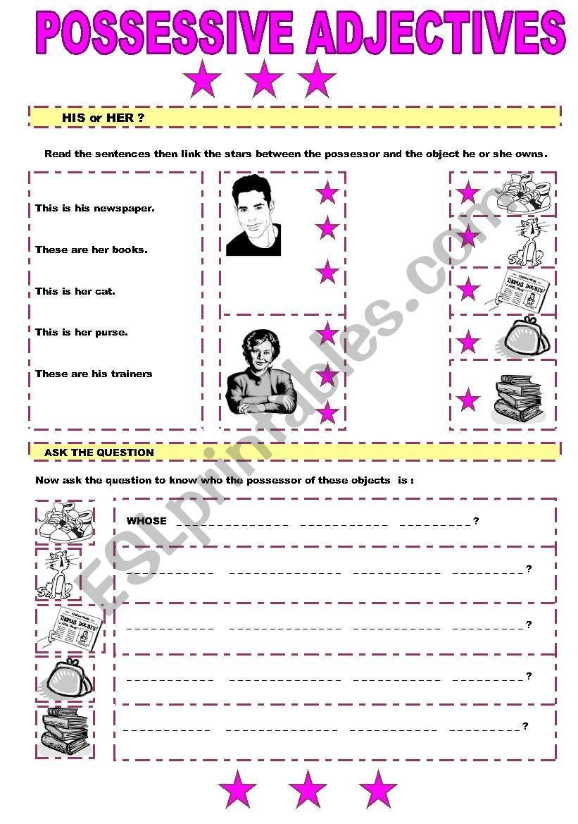 POSSESSIVE ADJECTIVES (2/2) worksheet