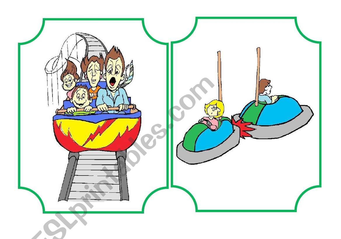 Funfair flashcard and activities set - part 1