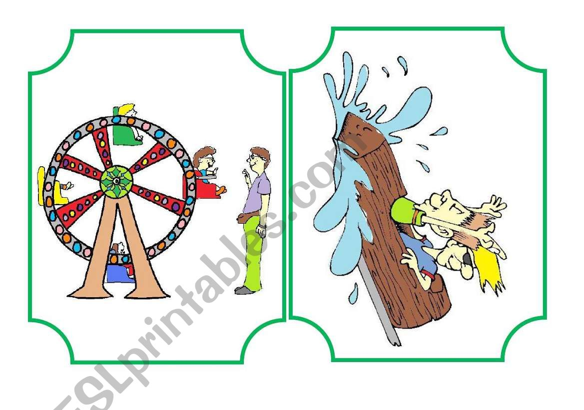 Funfair flashcard and activities set - part 2