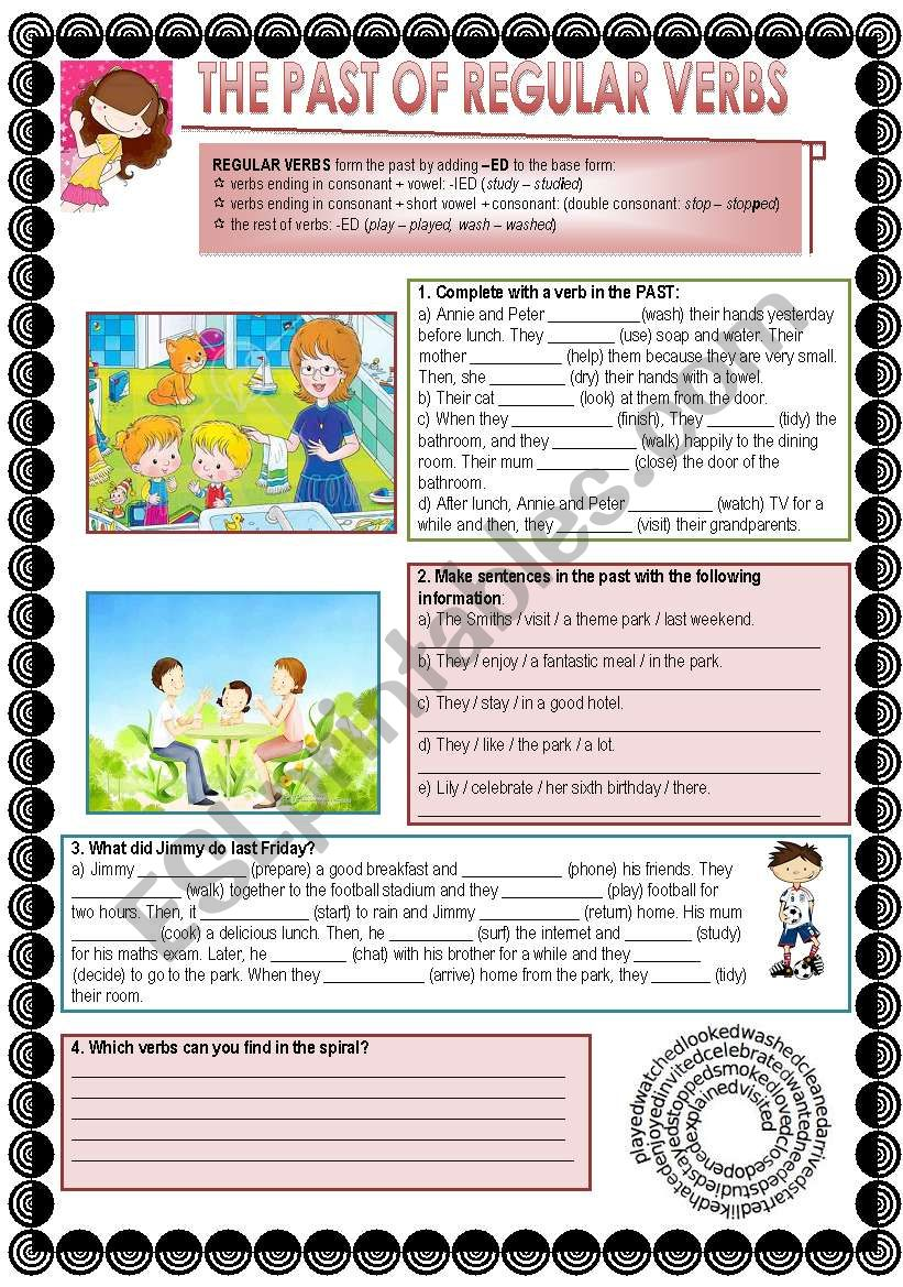 The Past of Regular Verbs worksheet