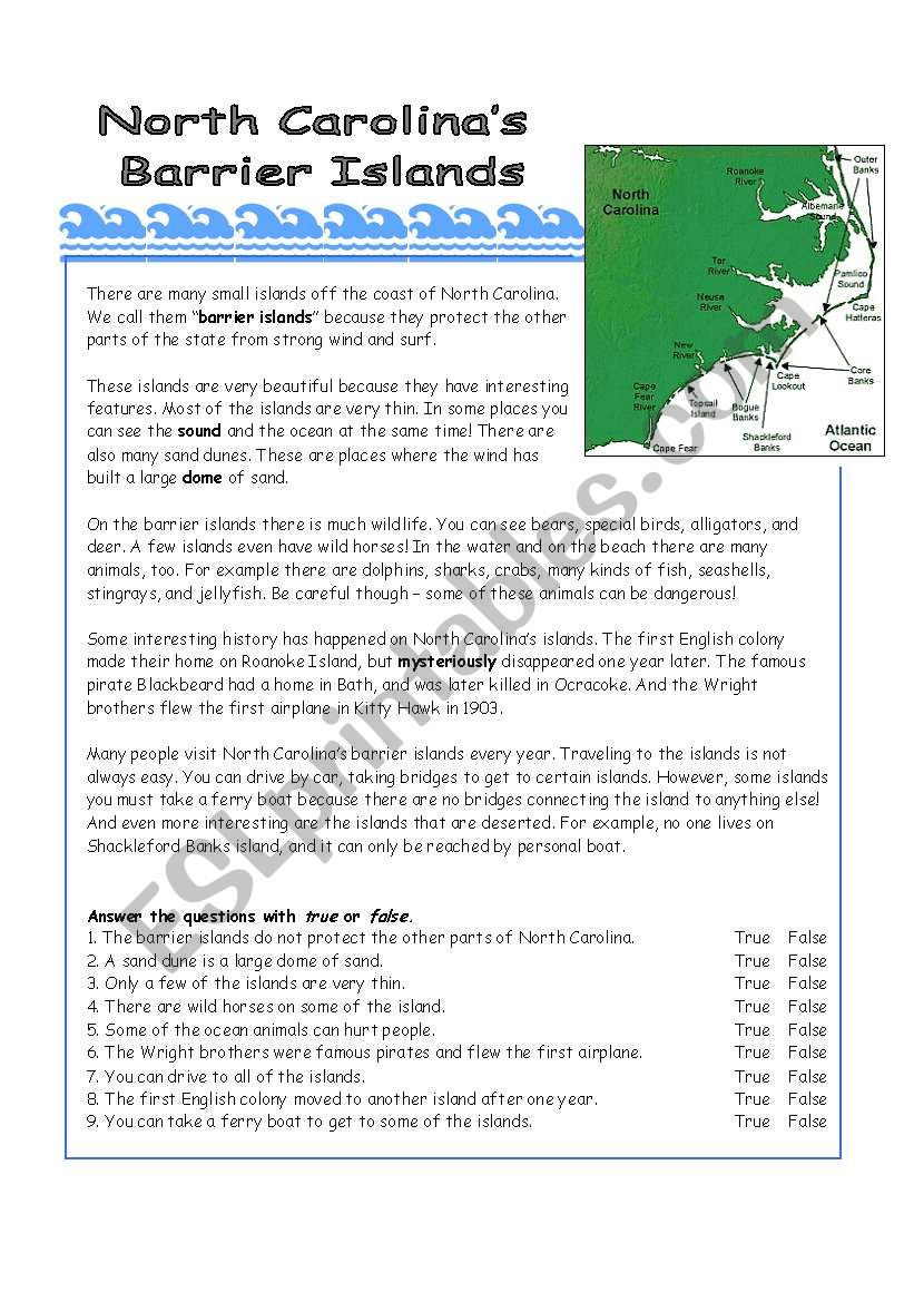 Interesting Islands - ESL worksheet by arlissa