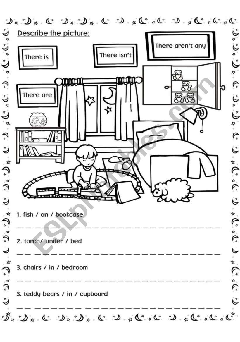 describe the picture worksheet