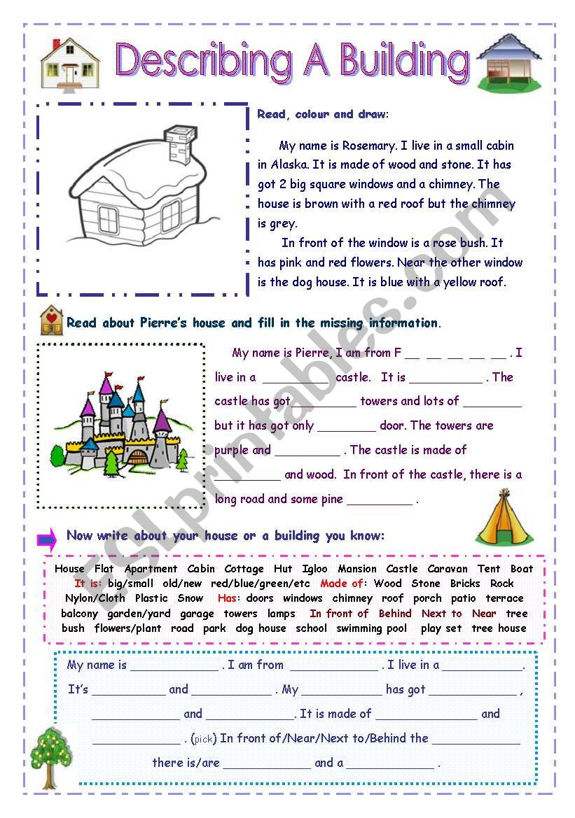 Describing a Building - For Young Learners