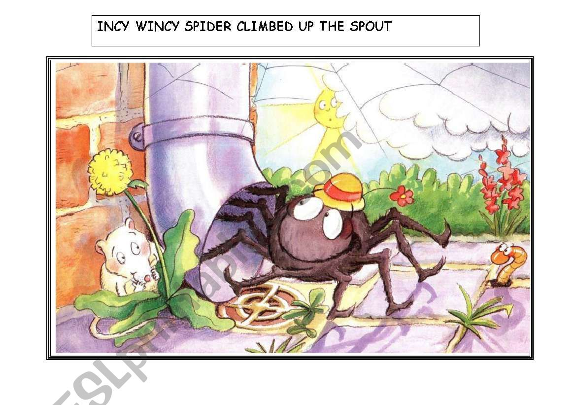 Incy Wincy Spider Story Flashcards (1 of 2)