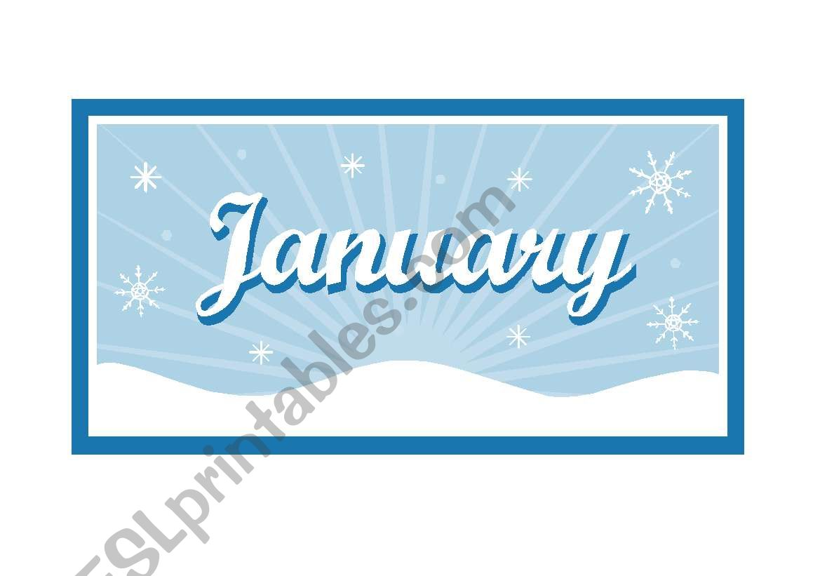 MONTHS  FLASHCARDS ( 12 PAGES )