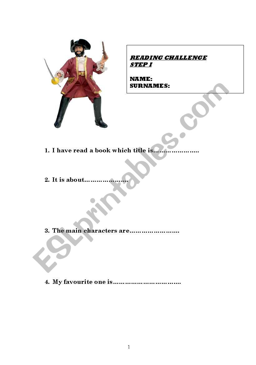 Reading profile worksheet
