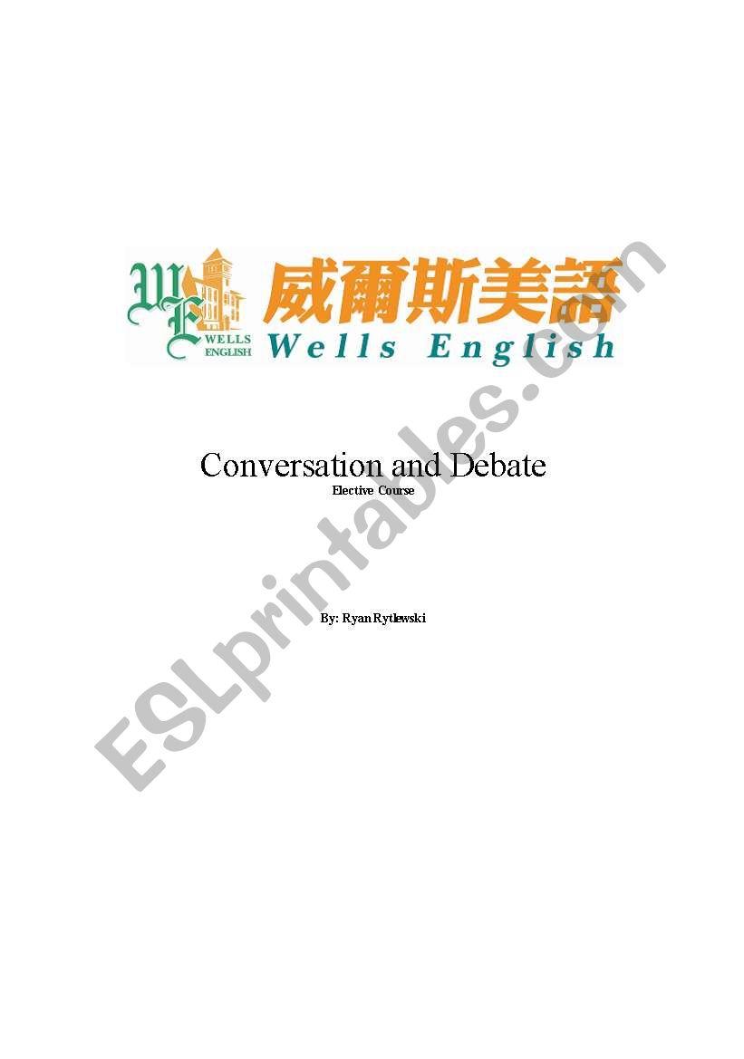 Conversation and Debate lesson plan