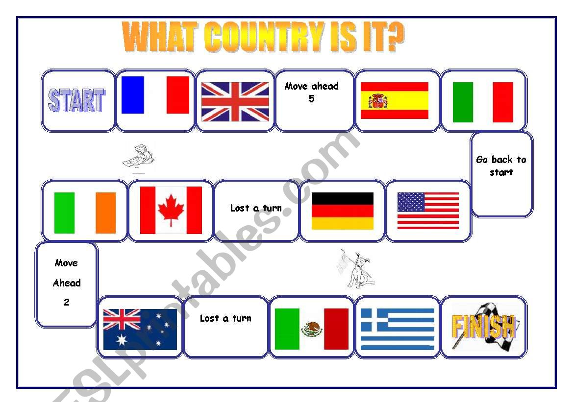 What country is it? worksheet