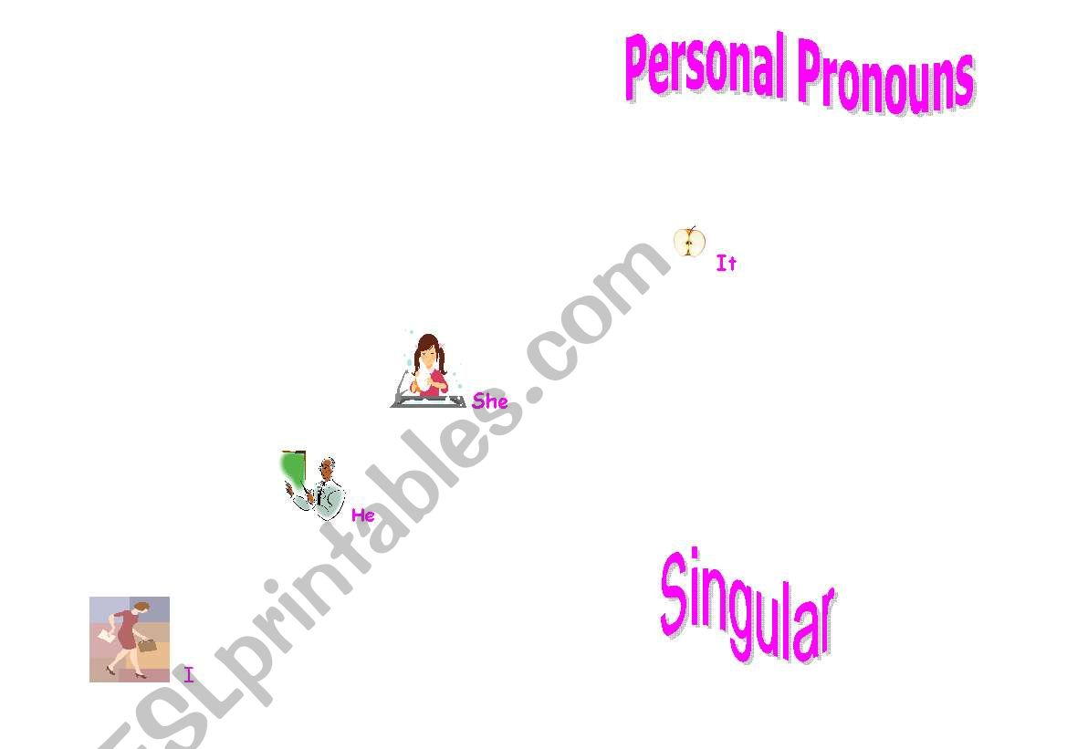 Personal Pronouns (Singular) worksheet