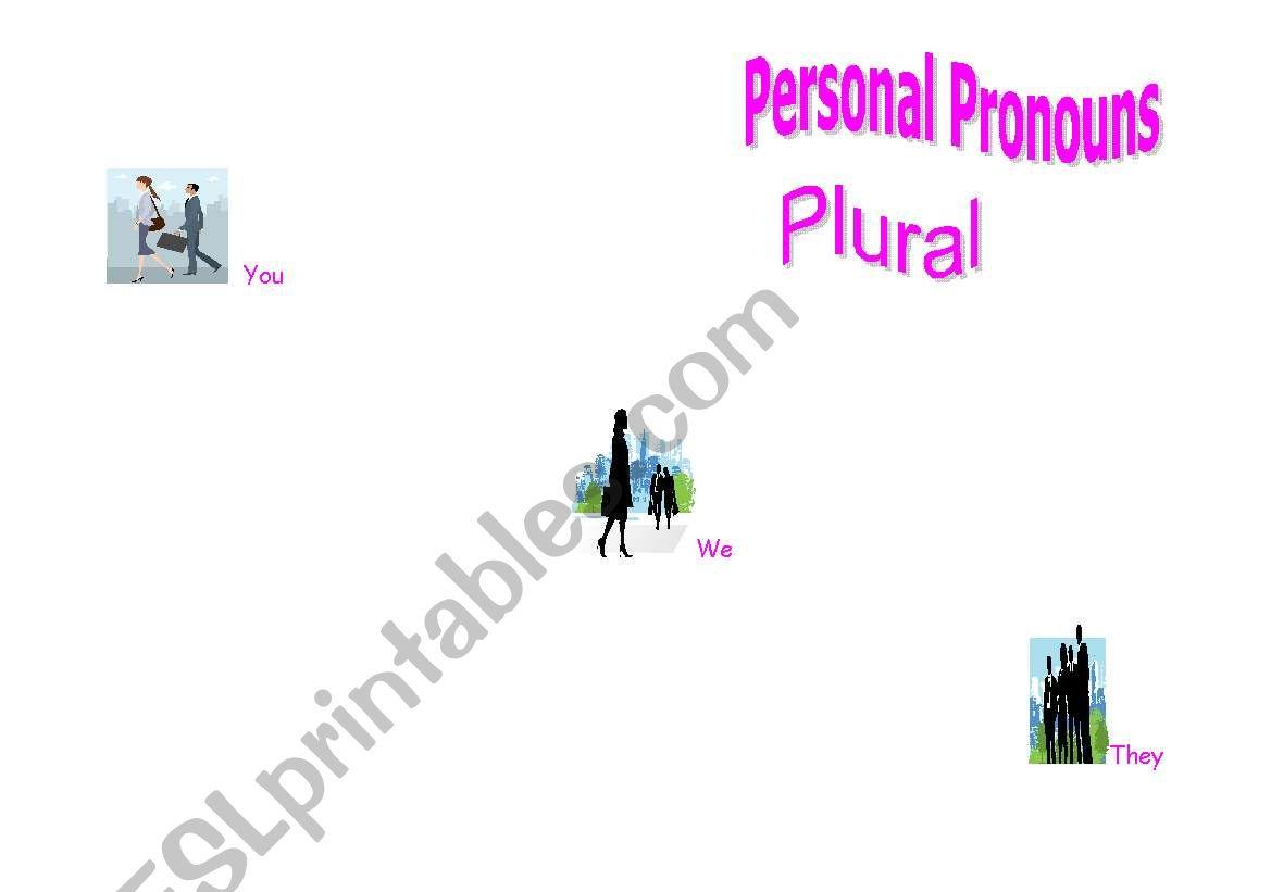 Personal Pronouns (Plural) worksheet