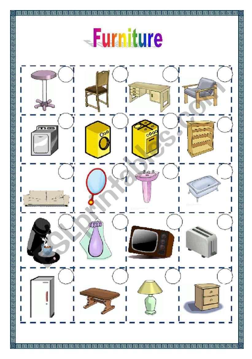 Furniture 1/2  (05.05.09) worksheet