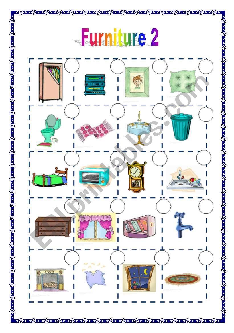 Furniture 2 /2  (06.05.09) worksheet