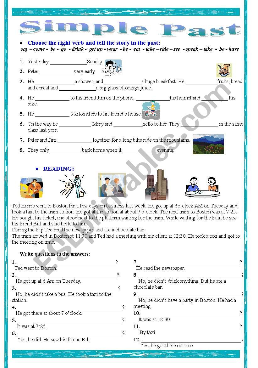Simple Past Practice worksheet