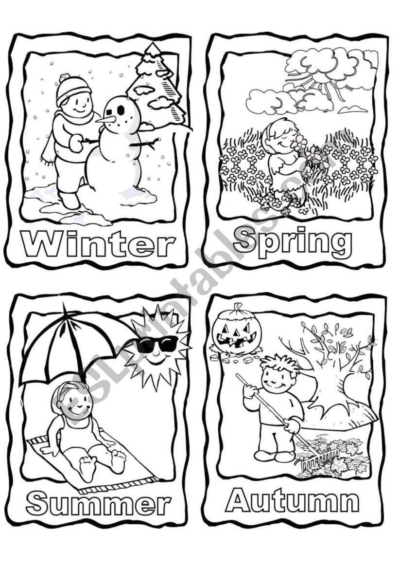 The 4 seasons worksheet