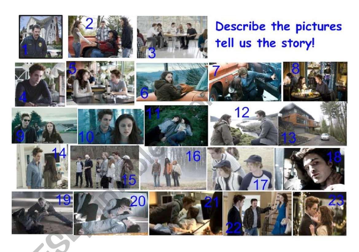 Twilight movie speaking activity