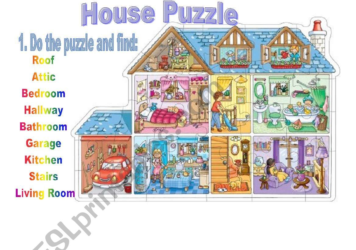 House Puzzle worksheet