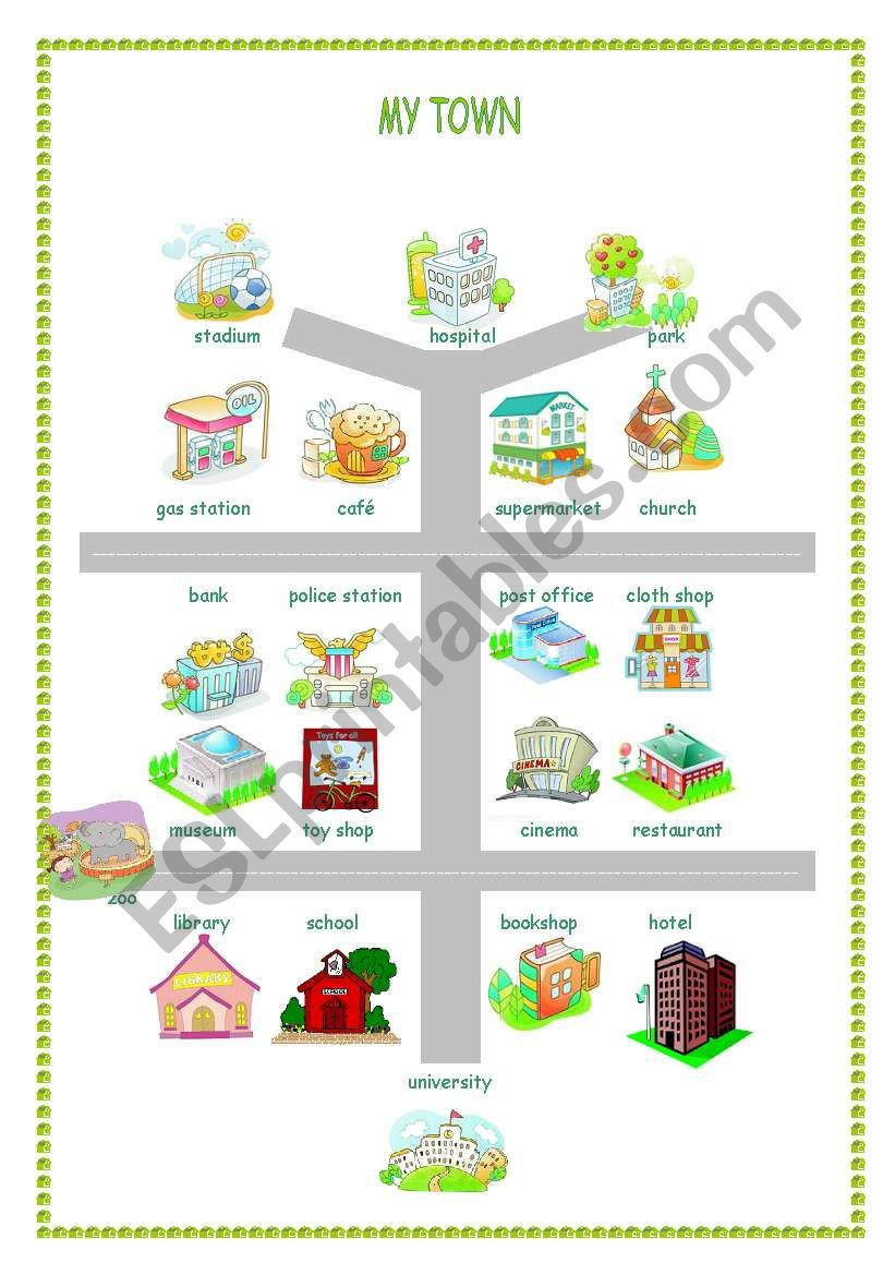 a map of my town exercises. Black Bedroom Furniture Sets. Home Design Ideas