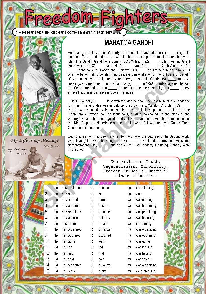 Freedom Fighter: Mahatma Gandhi (7 / 5 / 09)