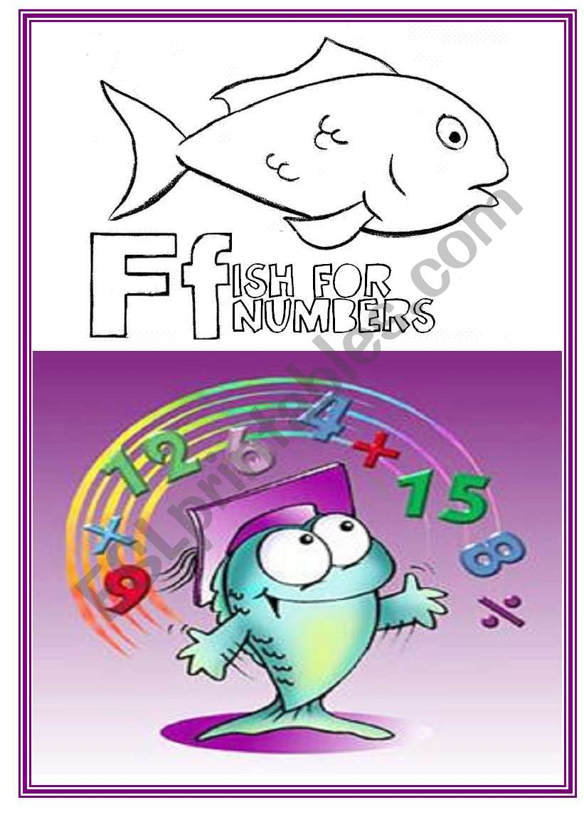 FISH FOR NUMBERS GAME !   12 pages !