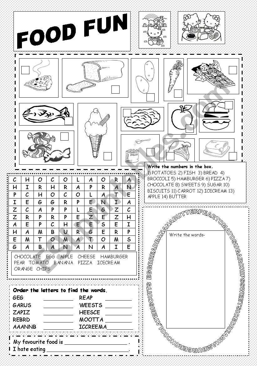 Food Fun worksheet