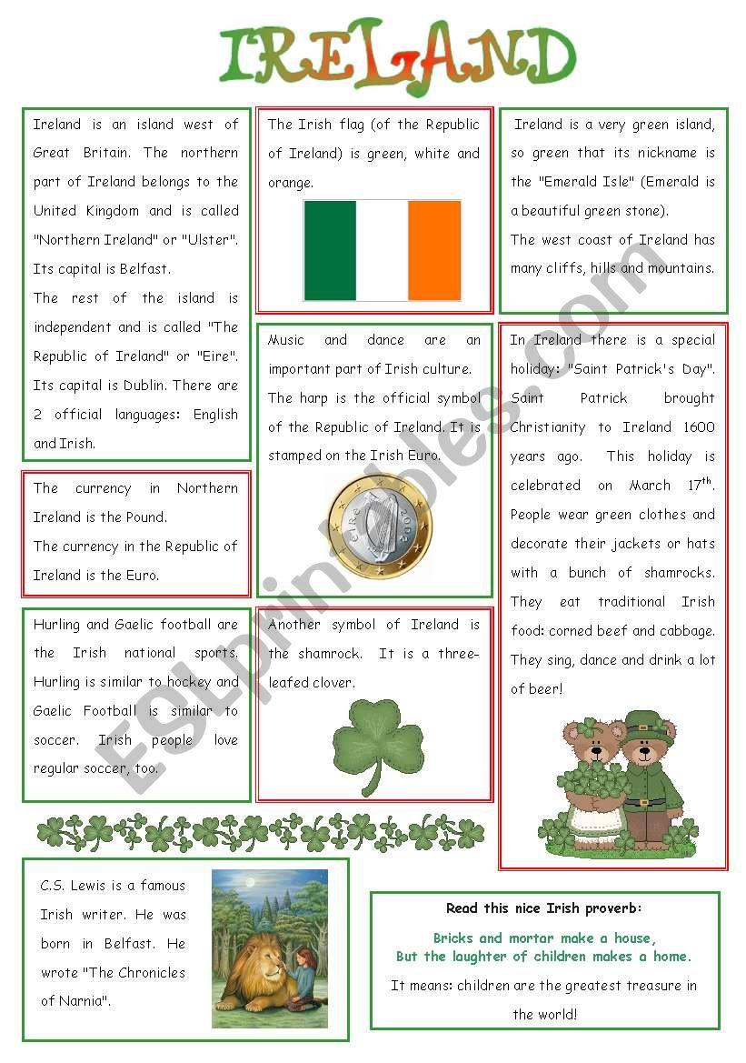 ENGLISH-SPEAKING COUNTRY (6) - IRELAND