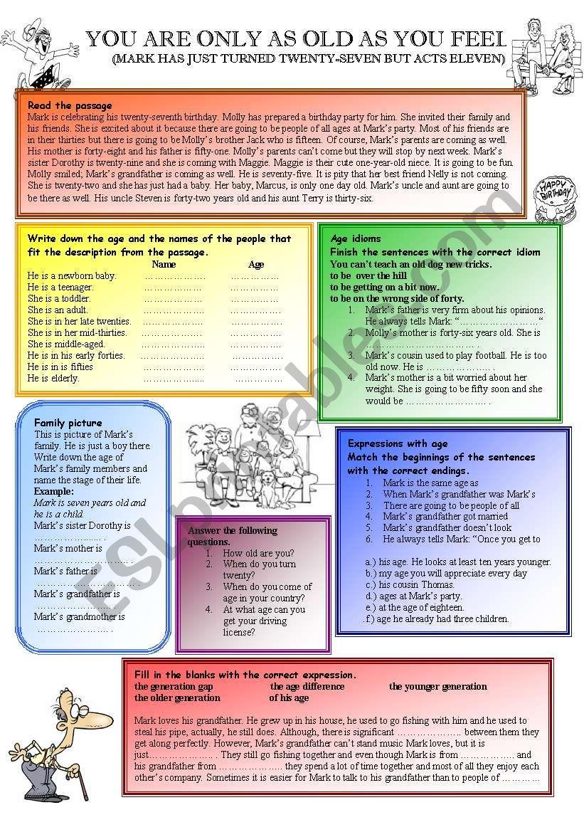 Age worksheet