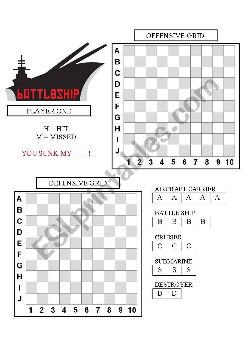 Battleship (for the classroom)