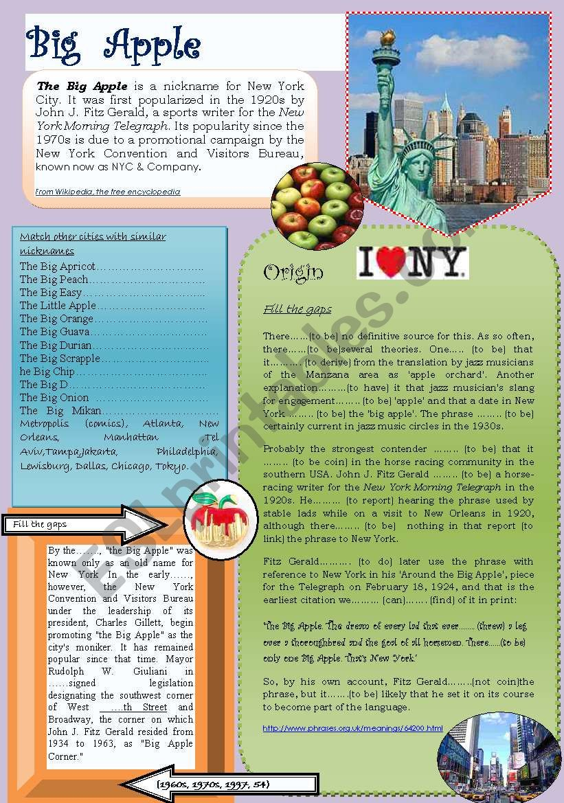 Big apple: New York (with keys)