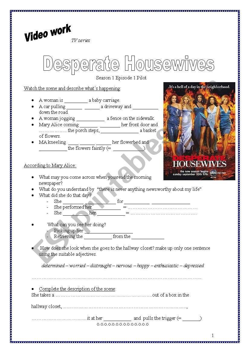 Video worksheet: Desperate Housewives