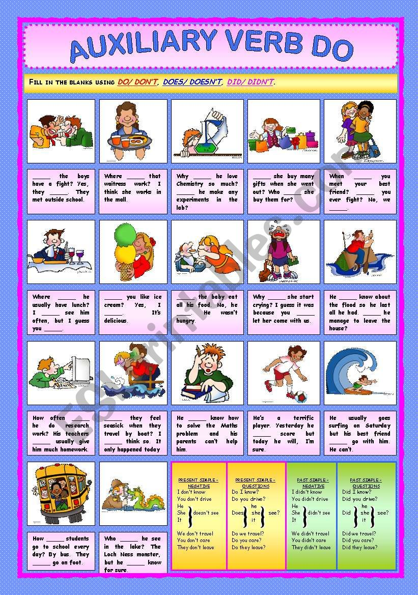 Auxiliary Verb Do worksheet