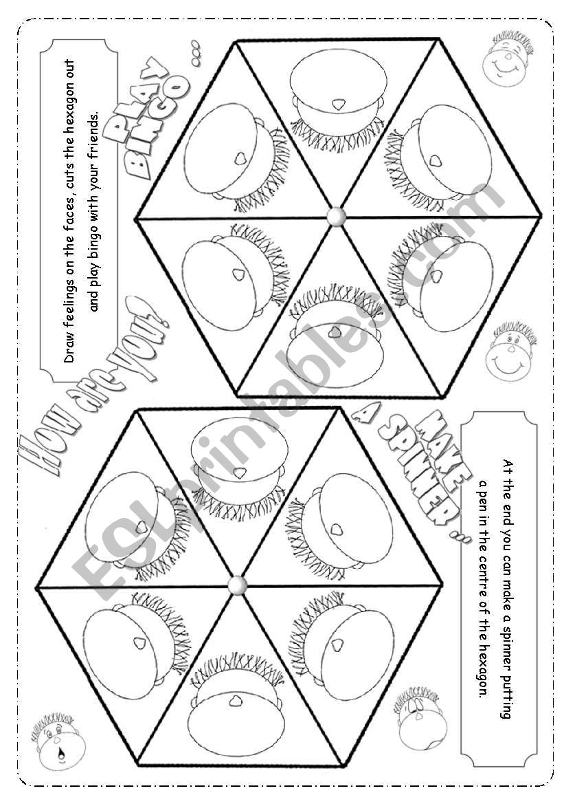 How are you today? worksheet