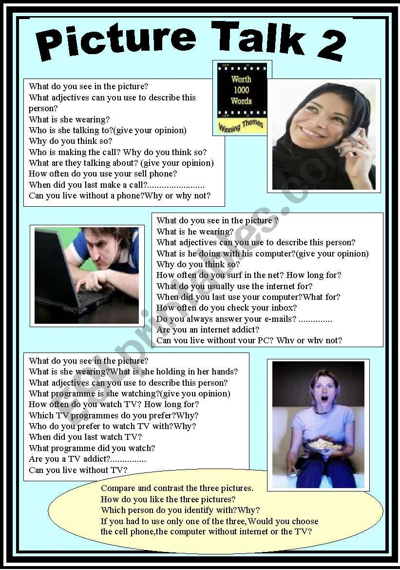 Speaking activity 2 worksheet