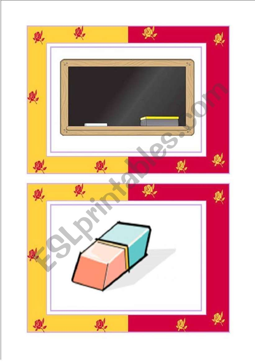 SCHOOL FLASHCARDS -3/3 worksheet