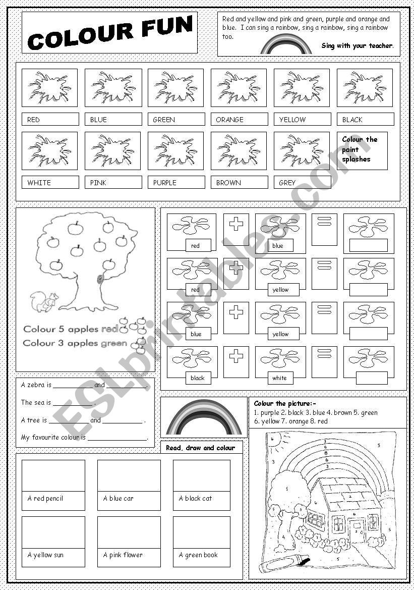 Colour Fun worksheet